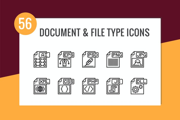 Cover Image For Document and File Type Icons