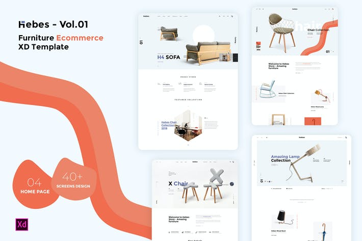 Thumbnail for HEBES Vol.01 - furniture Ecommerce XD Template