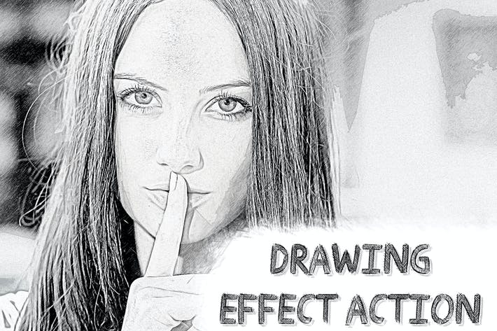 Thumbnail for Drawing Effect Photoshop Action