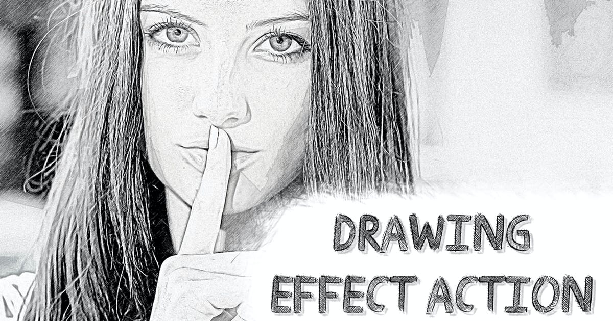 Drawing Effect Photoshop Action by ClauGabriel