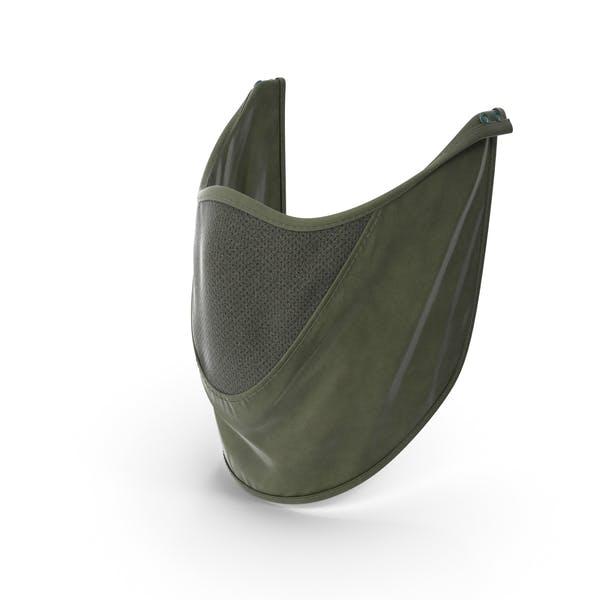 Зеленая маска для покрытия лица