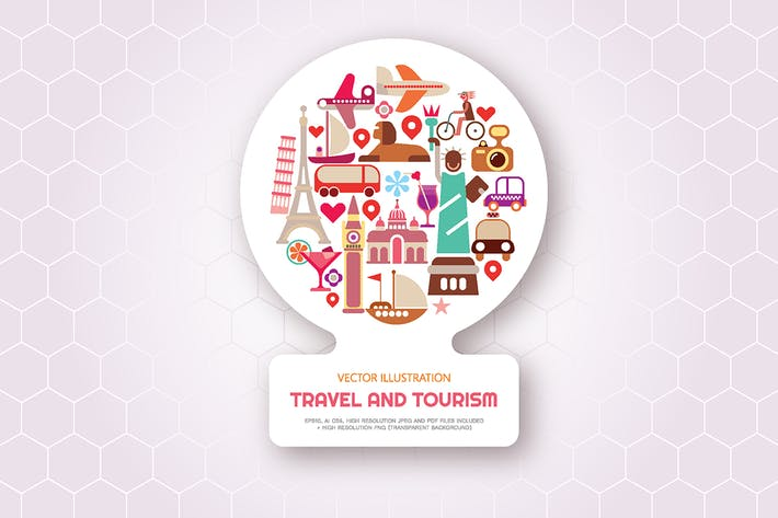 Thumbnail for Travel and Tourism vector illustration
