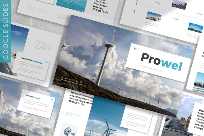 Thumbnail for Prowel- Энергия Google слайд Шаблон