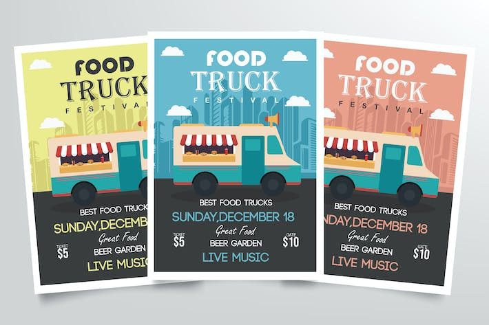 Thumbnail for Food Truck Festival Flyer Template