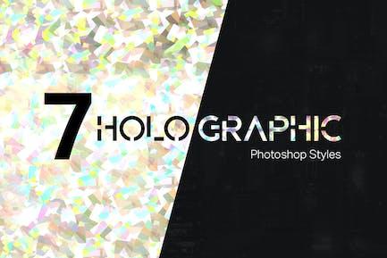 7 Holographic Photoshop Styles
