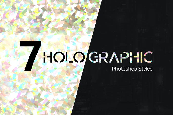 Thumbnail for 7 Holographic Photoshop Styles