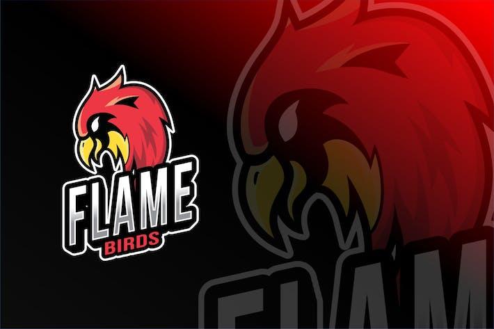 Thumbnail for Flame Birds Esport Logo Template