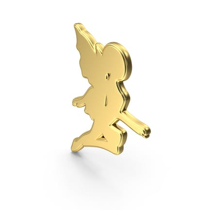 Golden Fairy Symbol Icon