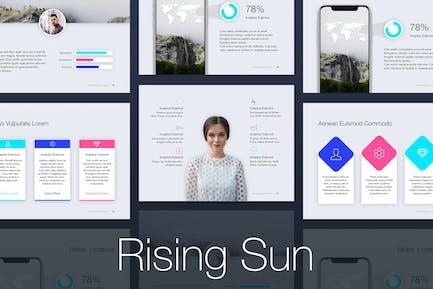 Plantilla de PowerPoint de sol naciente