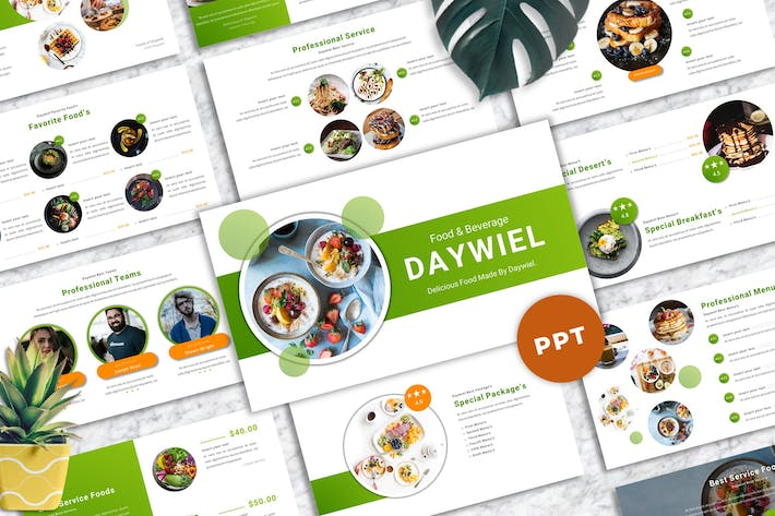Thumbnail for Daywiel - Food & Beverage Powerpoint Templates