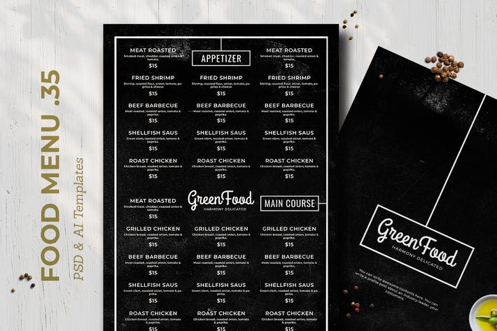 Thumbnail for Blackboard Food Menu. 35