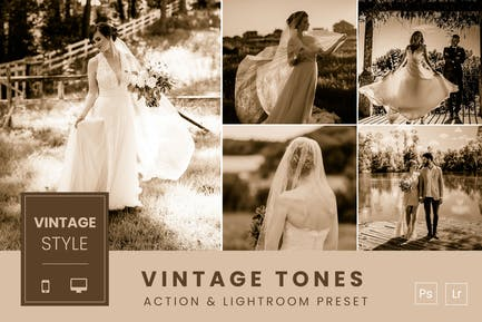 Vintage Tones Action & Lightroom Preset