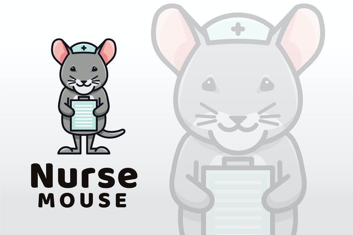 Thumbnail for Nurse Mouse Logo Template