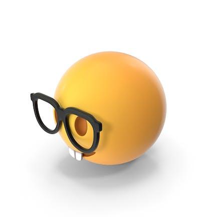 Cara de nerd Emoji