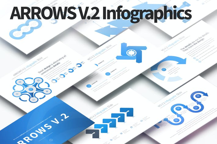Thumbnail for ARROWS V.2 - PowerPoint Infographics Slides