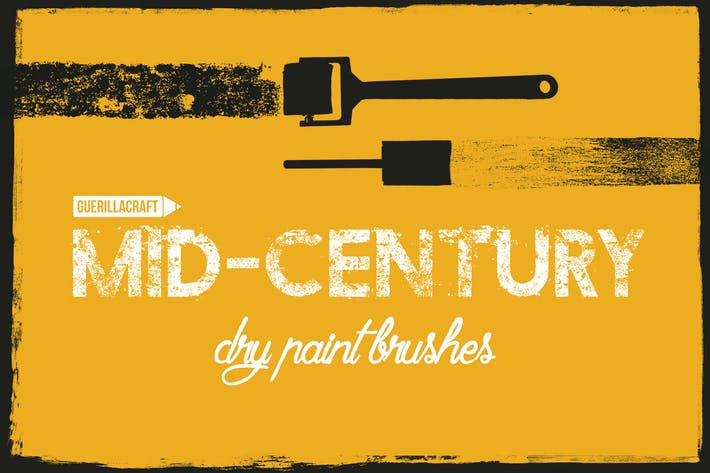 Cover Image For Mid-century brushes for Adobe Illustrator