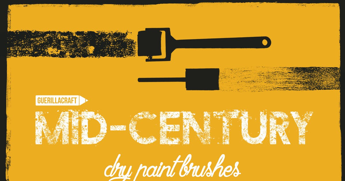 Download Mid-century brushes for Adobe Illustrator by guerillacraft