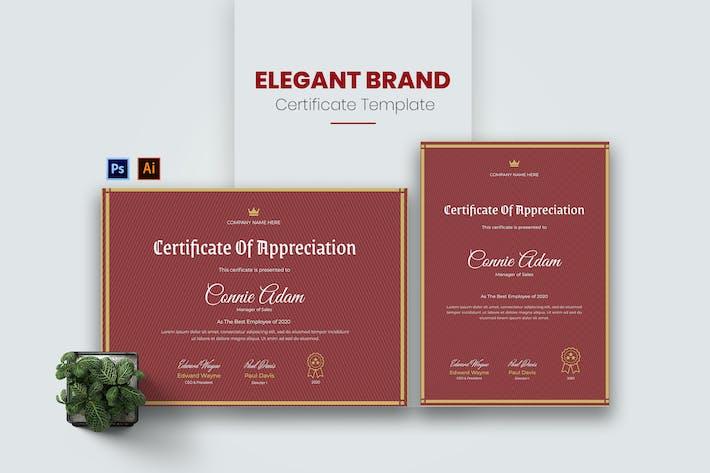 Thumbnail for Elegantes Marken-Zertifikat