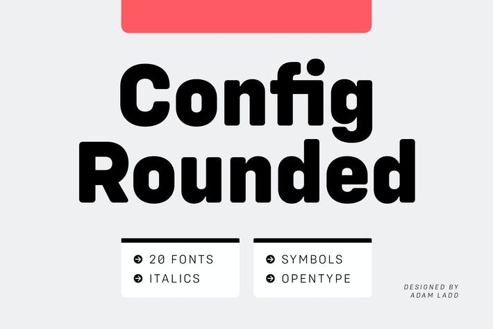 Thumbnail for Config Rounded Font Family
