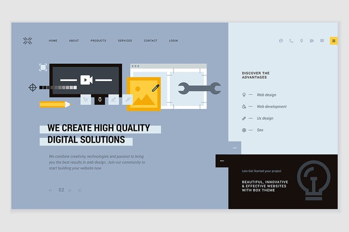 Thumbnail for Creative website template design