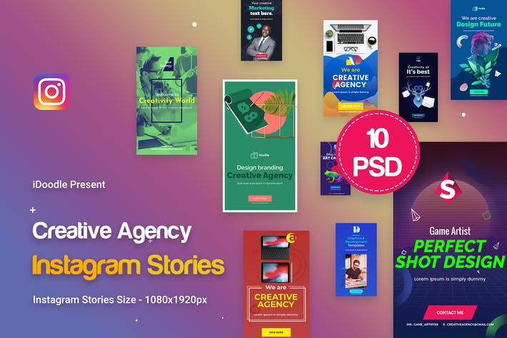 Cover Image For Creative Agency, Startup, Studio Instagram Stories