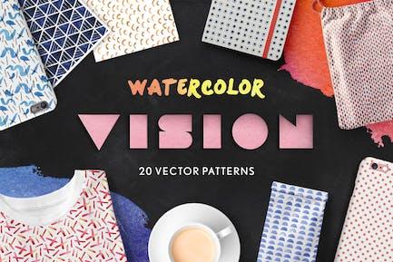 Watercolor Vision Vector Patterns