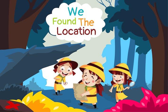 Wir sind der Ort - Illustration