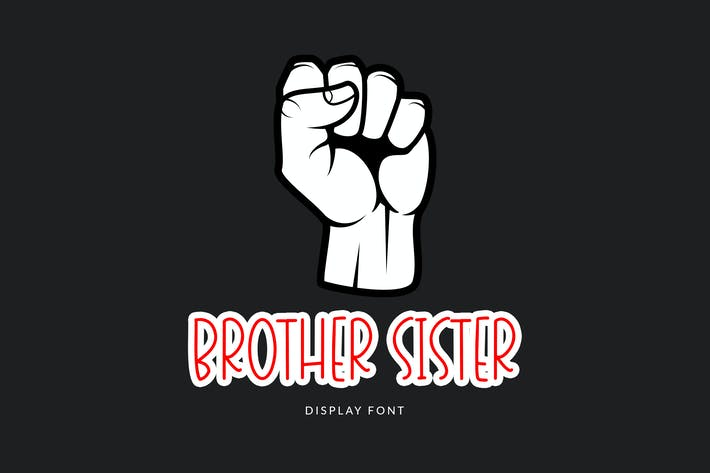 Brother Sister Display Font