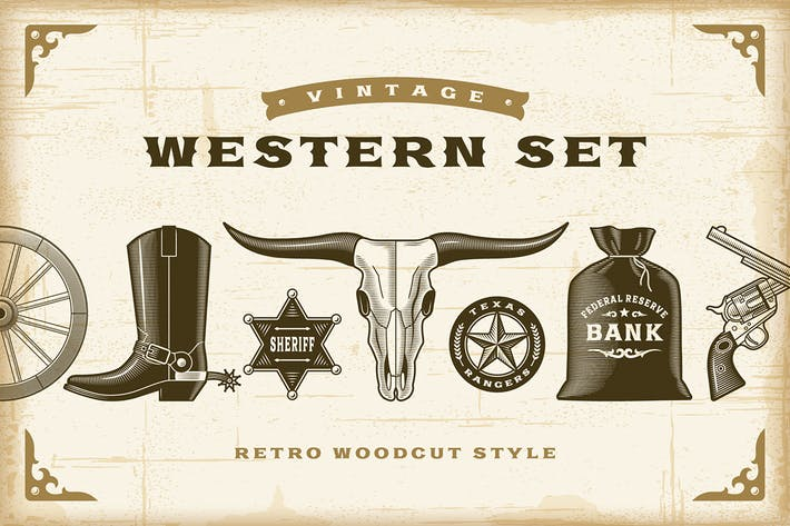Thumbnail for Vintage Western Set