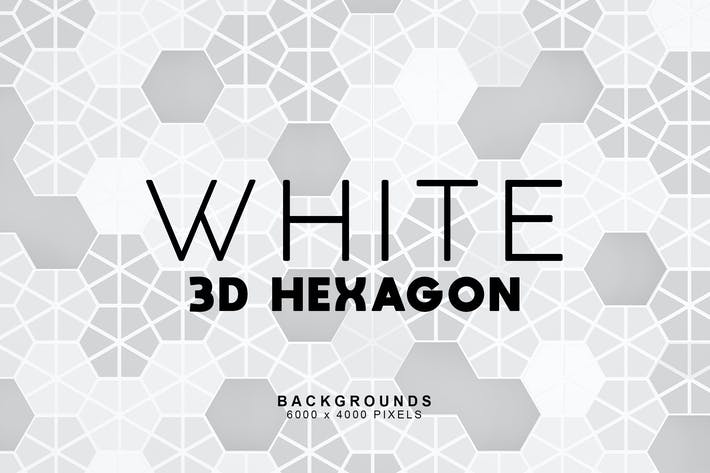 White Hexagon Backgrounds