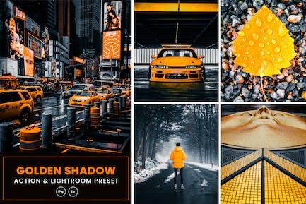 Acción Golden Shadow y Ajustes preestablecidos de Lightrom