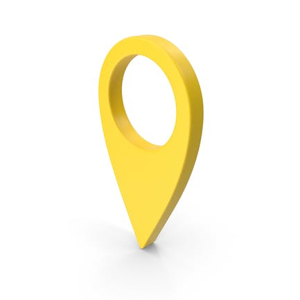 Знак местоположения на карте желтый