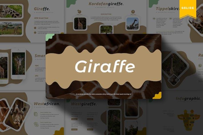Thumbnail for Giraffe   Google Slides Template