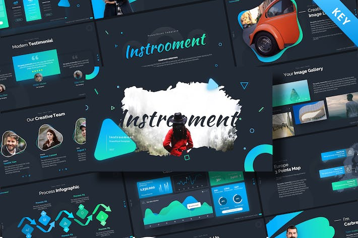 Thumbnail for Instrooment Creative Keynote Template