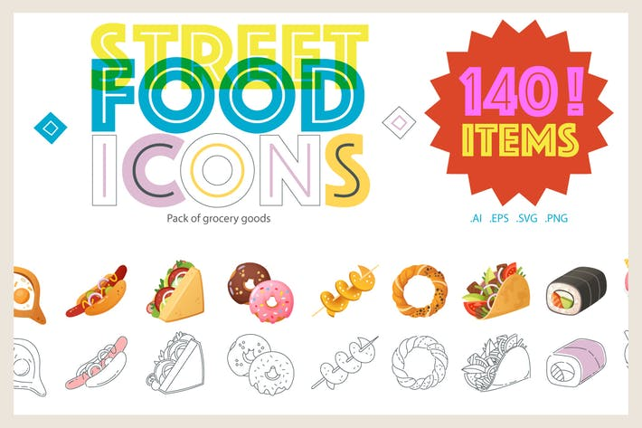 Thumbnail for Street Food Icons