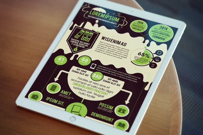 Thumbnail for Cool Marketing Infographics Template
