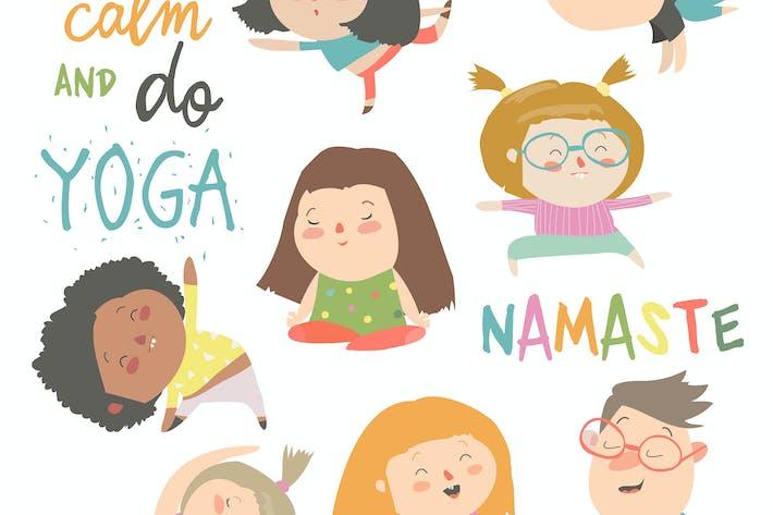 Thumbnail for Ensemble de yoga pour enfants. Gymnastique pour les enfants et en bonne santé