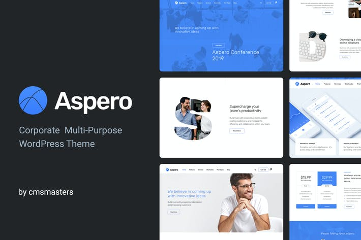 Thumbnail for Aspero - Business WordPress Thema