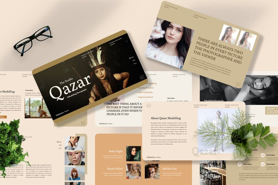 Qazar - Modelling Powerpoint Template