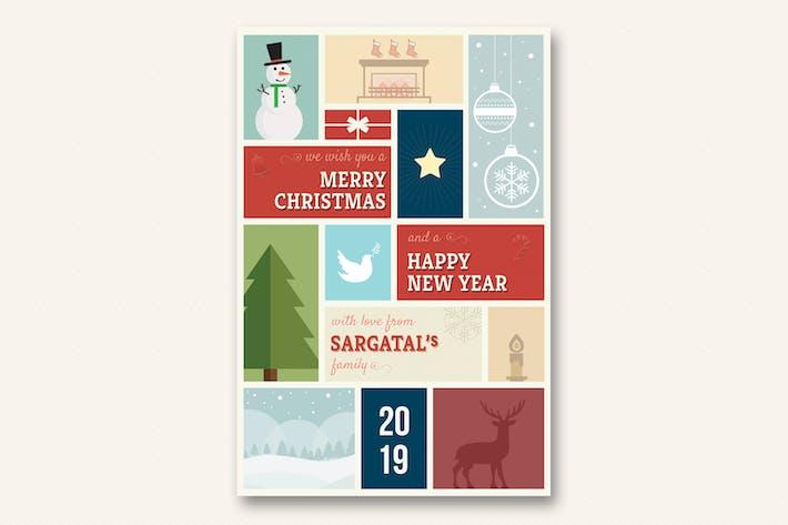Thumbnail for Симпатичные рождественские и новогодние открытки - Том 01