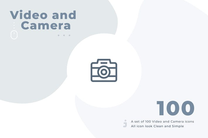 Thumbnail for 100 Video and Camera icon set - Material