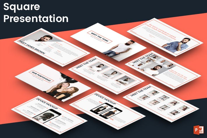 Thumbnail for SQUARE Powerpoint Presentation Template