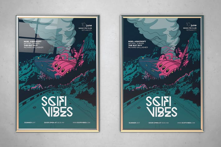 Sci Fi Vibes Flyer