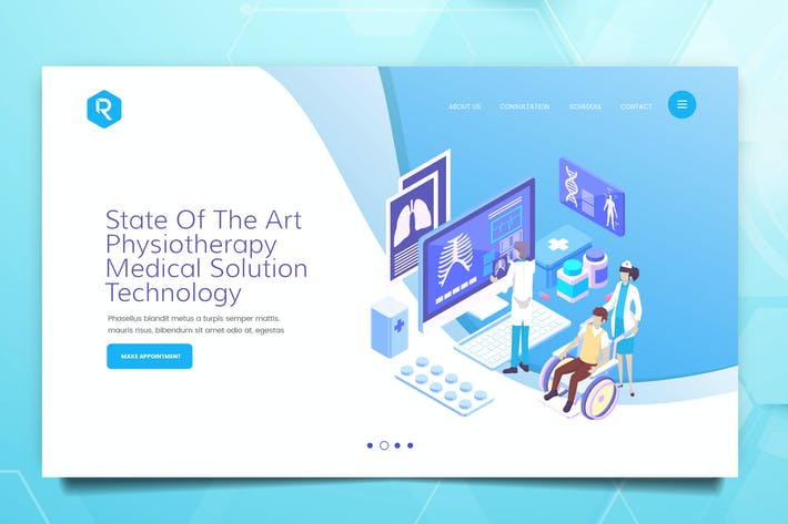 Thumbnail for Medical Web Header PSD And Vector Template Vol. 02