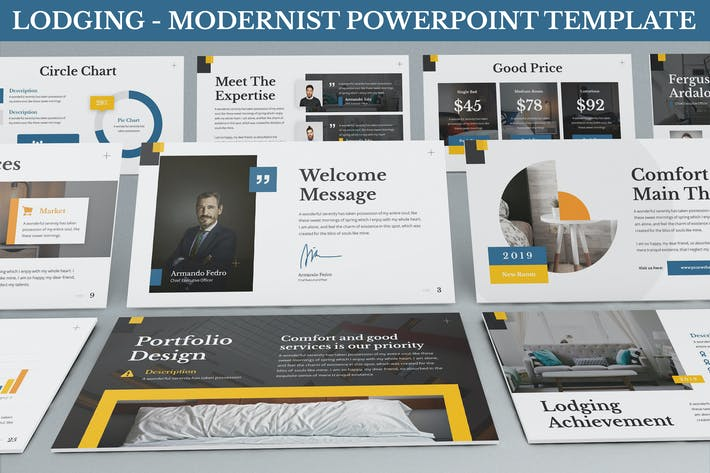 Thumbnail for Lodging -  Modernist Powerpoint Template