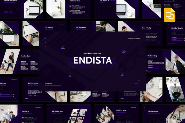 Thumbnail for Endista - Business Startup Google Slides Template
