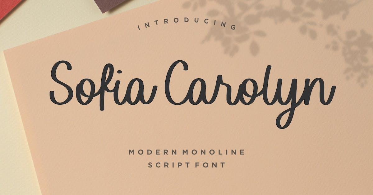 Sofia Carolyn Script Font YH by GranzCreative