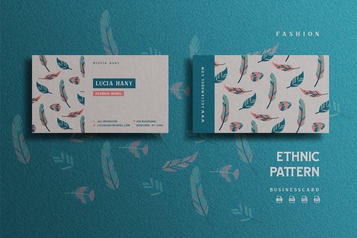 Thumbnail for Ethnic Pattern Theme - Fashion Businesscard