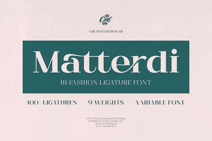 Matterdi - Hi-Fashion Ligature fuente
