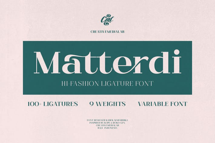 Thumbnail for Matterdi - Hi-Fashion Ligature font